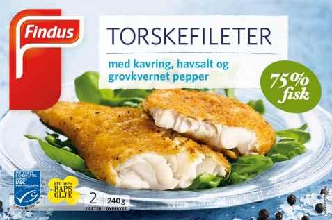 Bilde av Findus Torskefileter med kavring, havsalt og grovkvernet pepper.