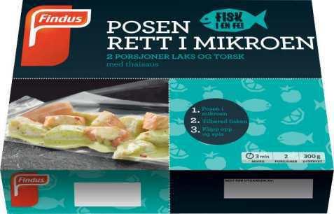 Bilde av Findus fisk i en fei Laks og Torsk med Thaismak.