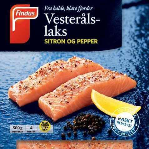 Bilde av Findus Vesterålslaks med sitron og pepper.