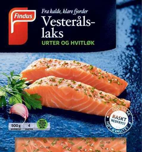 Bilde av Findus Vesterålslaks med urte og hvitløk.