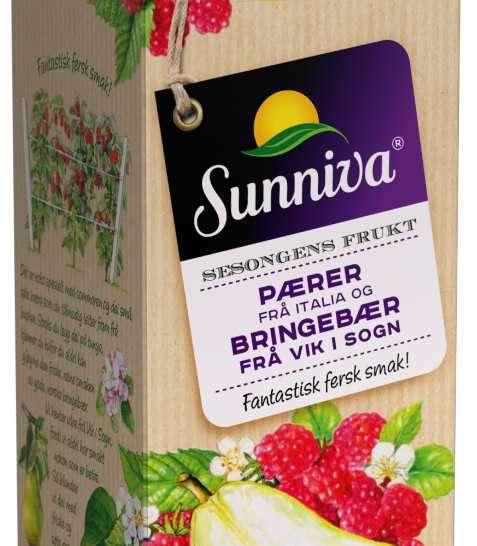 Bilde av Tine Sunniva Premium juice med Pære fra Italia og sesongens Solbær fra Hedmark.
