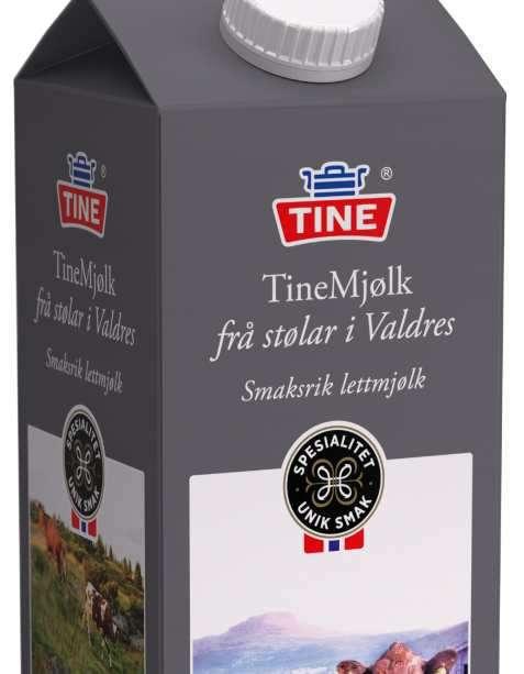Bilde av Tine Mjølk frå stølar i Valdres Lettmjølk.