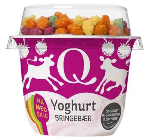 Bilde av Q yoghurt m/musli bringebær.