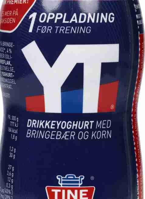 Bilde av Tine YT Proteinrik drikkeyoghurt bringebær og korn.