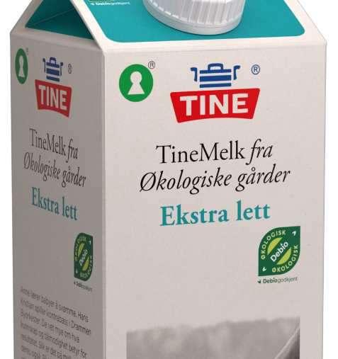 Bilde av Tine Melk Økologisk Ekstra Lett.