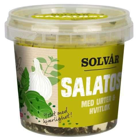 Bilde av Tine Solvår Salatost med urter og hvitløk.