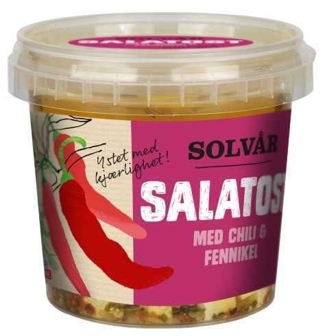 Bilde av Tine Solvår Salatost med chili og fennikel.