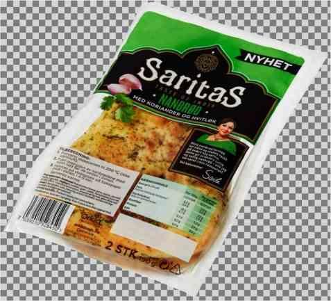 Bilde av Saritas nanbrød korian og hvitløk.