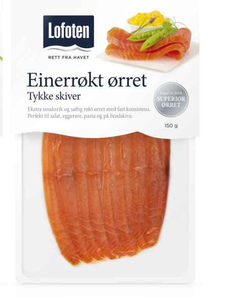 Bilde av Lofoten Einerrøkt ørret, tykke skiver.