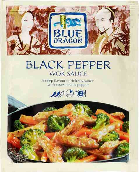 Bilde av Blue Dragon Woksaus Black pepper.