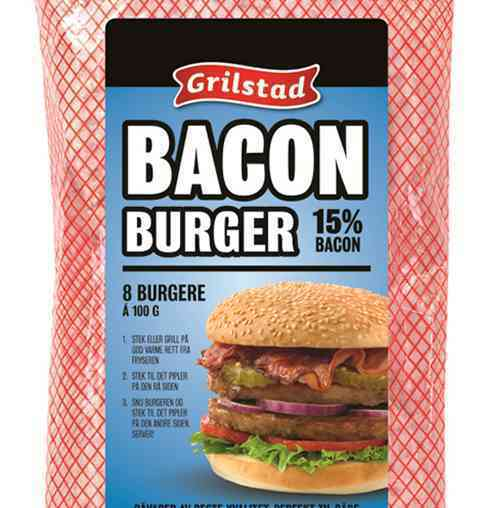 Bilde av Grilstad baconburger.