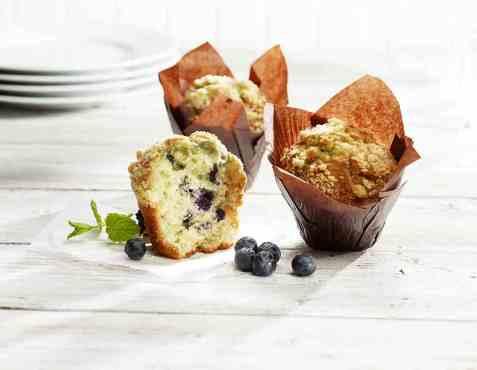 Bilde av Aunt Mabel tulip blueberry muffins.