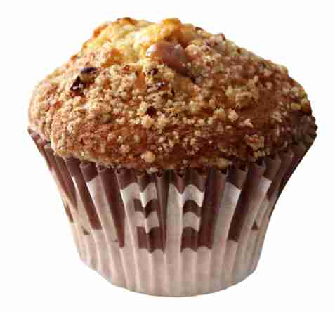 Bilde av Aunt Mabel long neck caramel pecan muffin.
