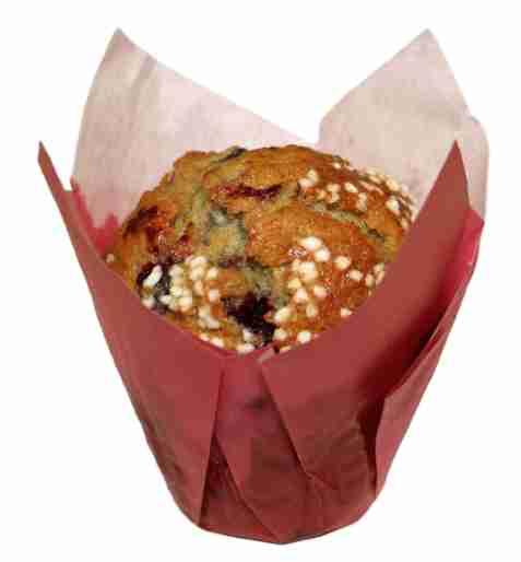 Bilde av Aunt Mabel tulip wildberry muffin.