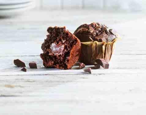 Bilde av Aunt Mabel premium tulip chocolate muffins.
