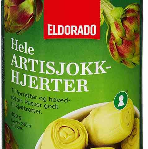 Bilde av Eldorado artisjokk-hjerter i vann.