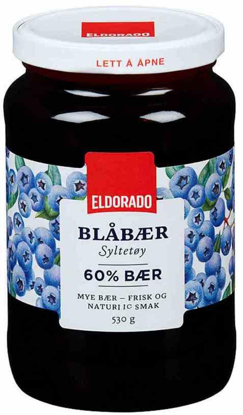 Bilde av Eldorado blåbærsyltetøy.