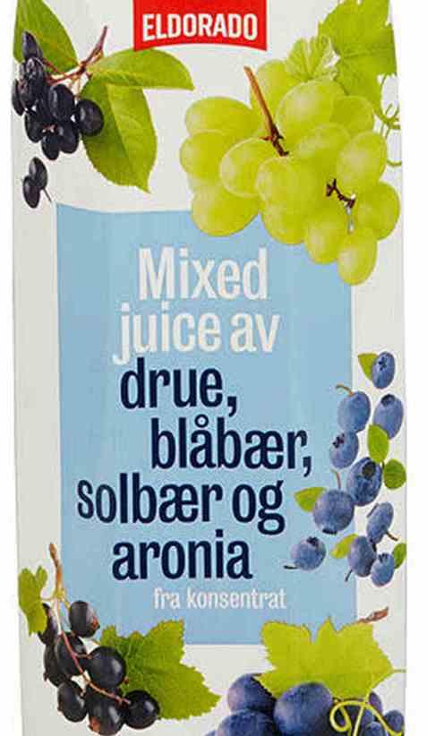 Bilde av Eldorado juice m/druer og blå bær.