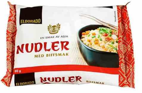 Bilde av Eldorado nudler m/kjøttsmak.