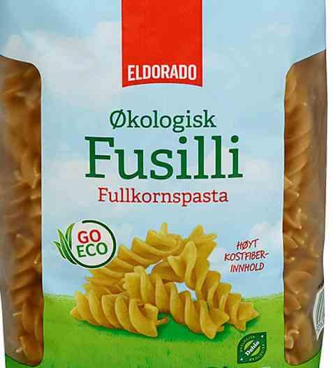 Bilde av Eldorado pasta fusilli økologisk fullkorn.