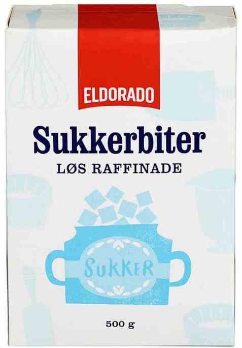 Bilde av Eldorado sukkerbiter, løs raffinade.