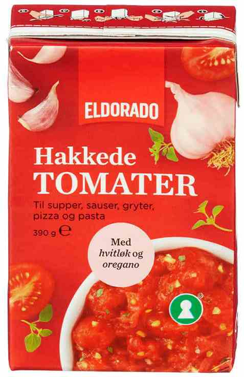 Bilde av Eldorado tomater hakkede m/hvitløk.