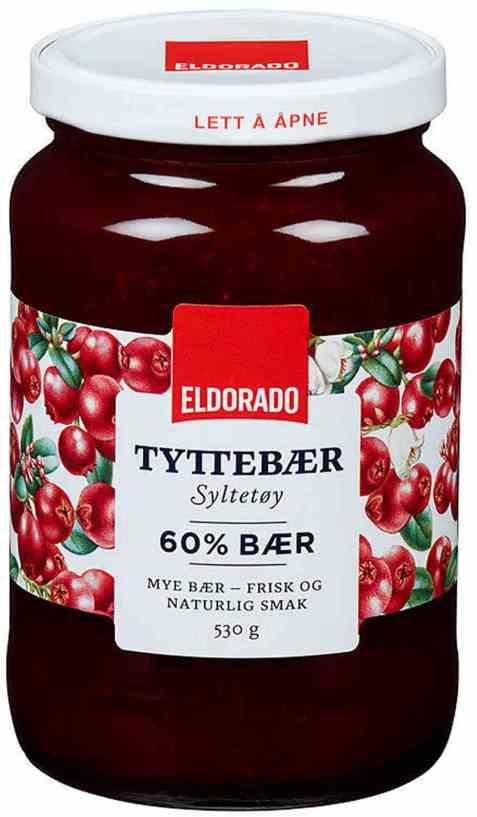 Bilde av Eldorado tyttebærsyltetøy.