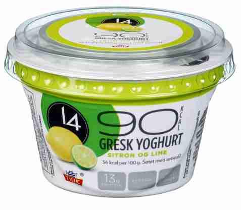 Bilde av Tine 14 Gresk Yoghurt Sitron-lime.