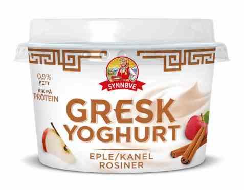 Bilde av Synnøve gresk yoghurt eple, kanel og rosin.