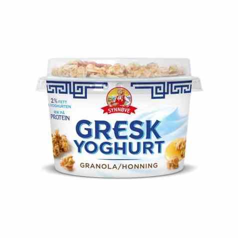 Bilde av Synnøve gresk yoghurt honning og granola.