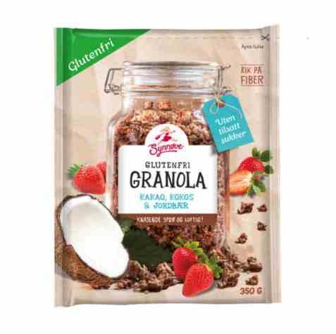 Bilde av Synnøve Glutenfri Granola Mørk Sjokolade og Appelsin.