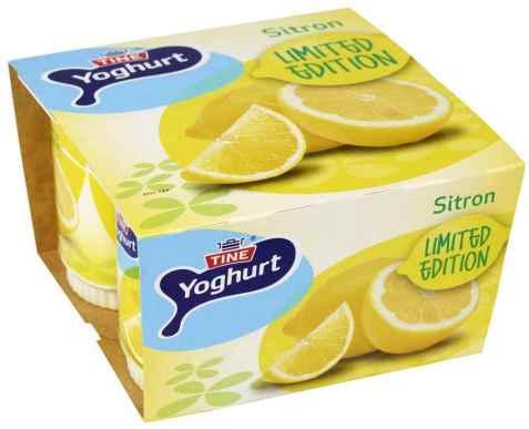 Bilde av TINE Yoghurt Sitron.