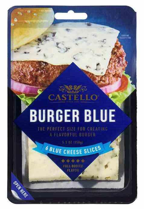 Bilde av Arla castello burger blue.