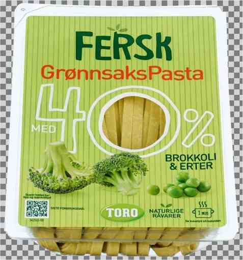 Bilde av Toro fersk grønnsakspasta med brokkoli og erter.
