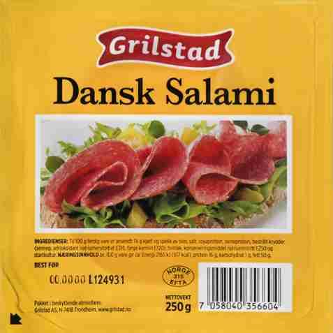Bilde av Grilstad dansk salami.