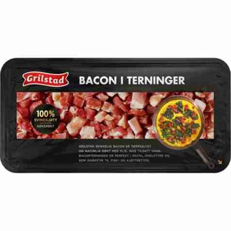 Bilde av Grilstad bacon i terninger.