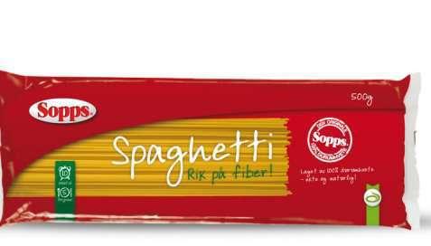 Bilde av Sopps Spaghetti Fiberpasta.
