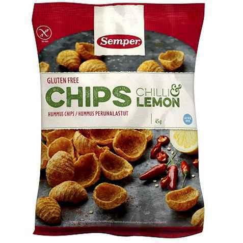 Bilde av Semper glutenfrie kikertchips.