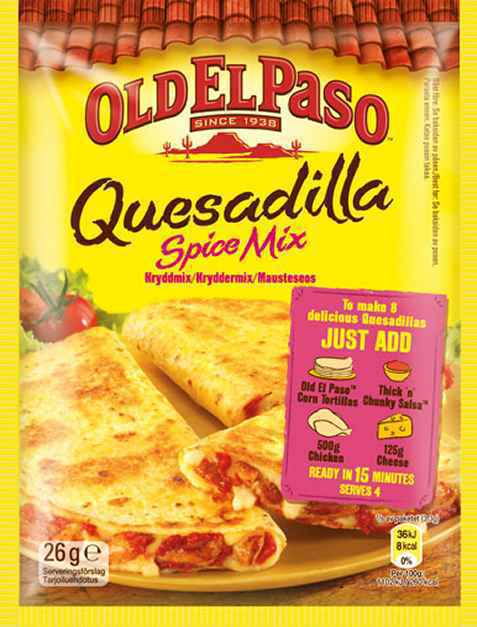Bilde av Old el paso quesadillas spice mix.