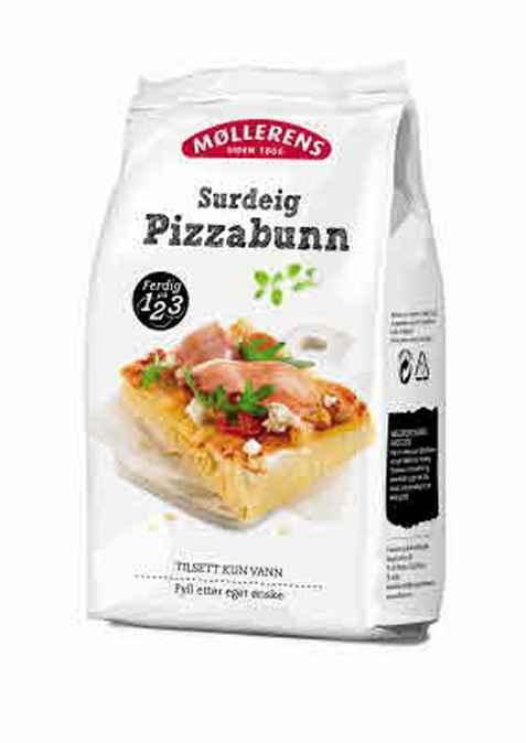 Bilde av Møllerens surdeig pizzabunn.