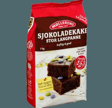 Bilde av Møllerens Sjokoladekake Langpanne.