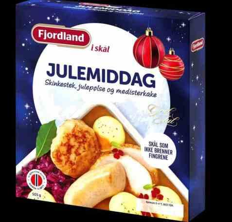 Bilde av Fjordland Julemiddag med skinkestek rødkål og poteter.