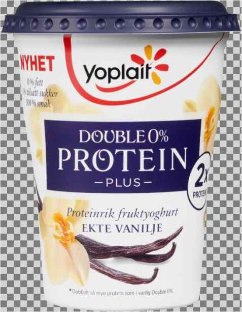 Bilde av Yoplait Double 0 prosent Protein Plus Vanilje.