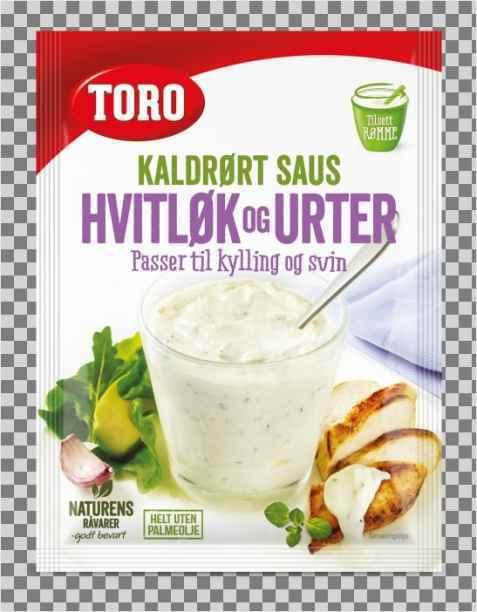 Bilde av Toro kaldrørt hvitløk og urtesaus.