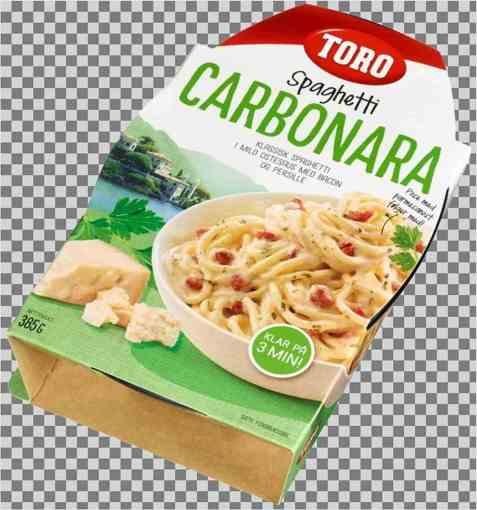 Bilde av Toro spagetti carbonara ferdig.