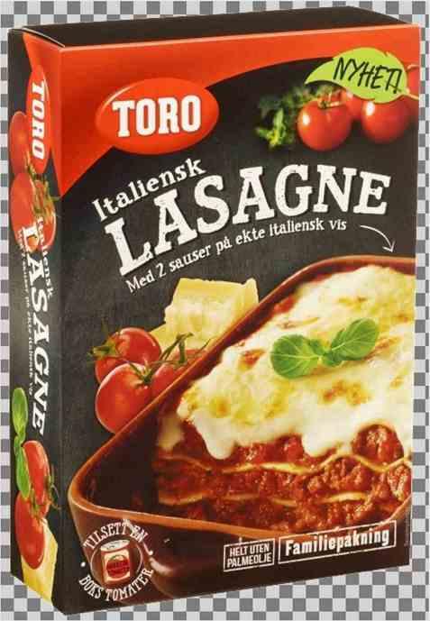 Bilde av Toro italiensk lasagne.