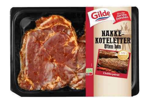 Bilde av Gilde svin nakkekoteletter chilikrydret.