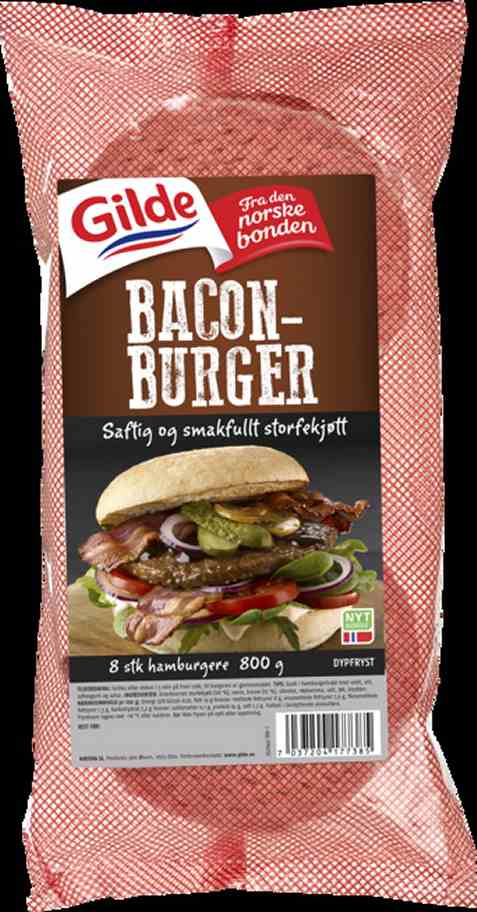 Bilde av Gilde baconburger.