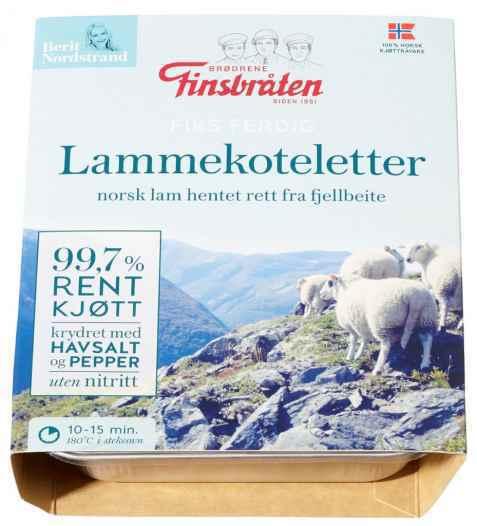 Bilde av Finsbråten lammekoteletter.
