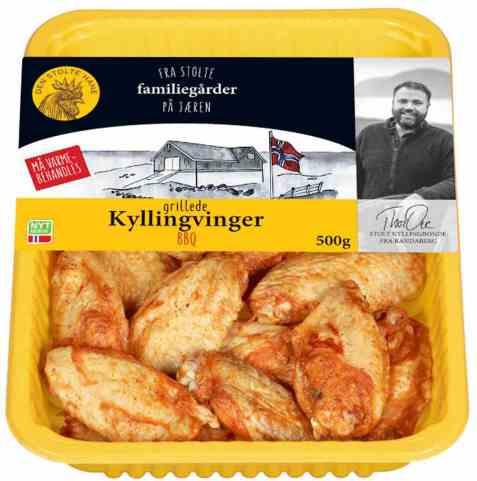 Bilde av Den stolte hane grillede kyllingvinger.